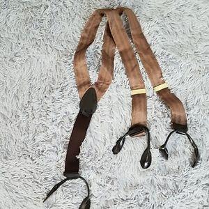 Brown Silk Suspenders